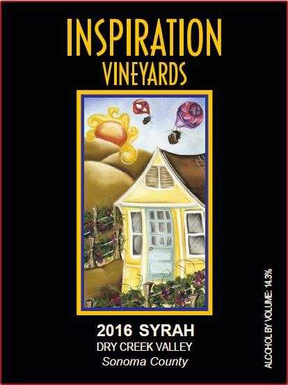 Wine Label - Inspiration Vineyards 2016 Syrah