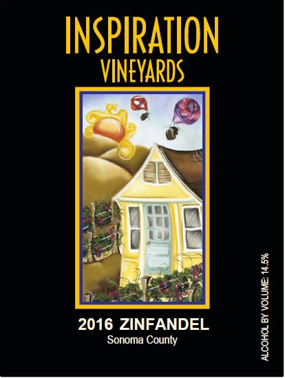 Wine Label - Inspiration Vineyards 2016 Zinfandel