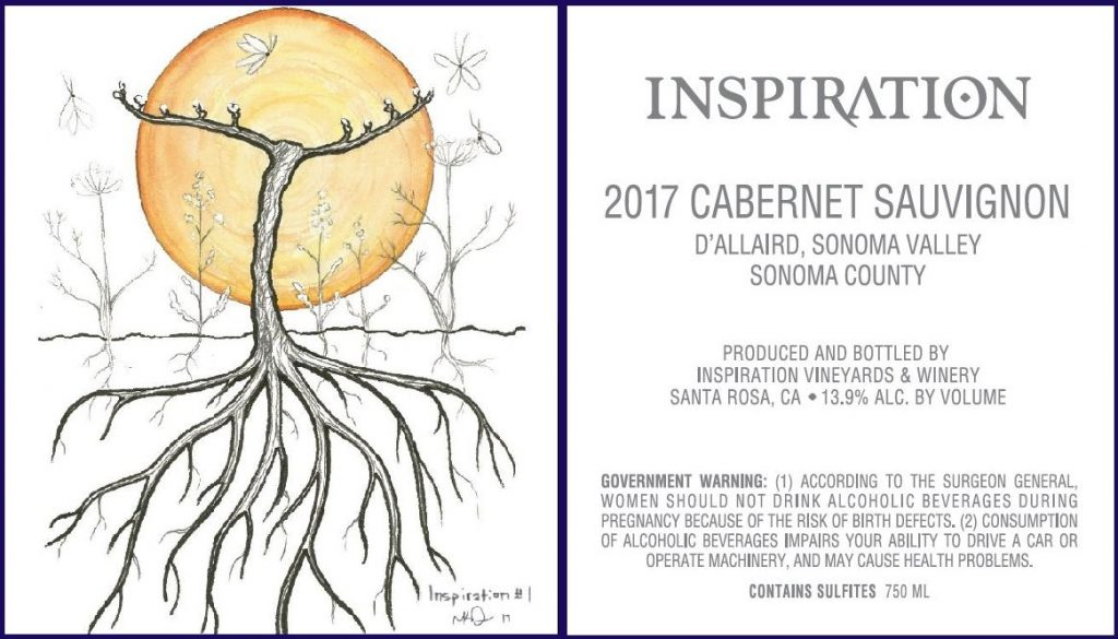 Wine Label - Inspiration Vineyards 2017 Cabernet Sauvignon