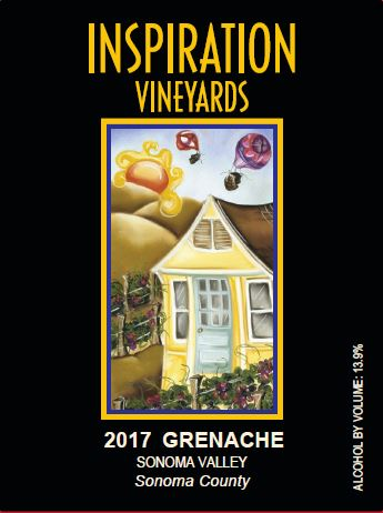 Wine Label - Inspiration Vineyards 2017 Grenache