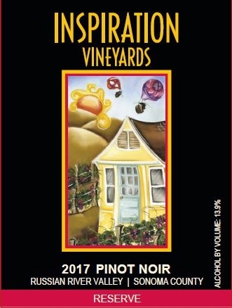 Wine Label - Inspiration Vineyards 2017 Pinot Noir Reserve