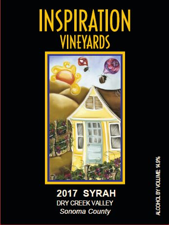 Wine Label - Inspiration Vineyards 2017 Syrah