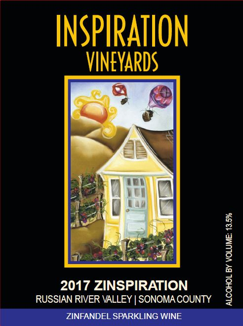 Wine Label - Inspiration Vineyards 2017 Zinspiration Sparking Wine