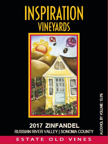 Wine Label - Inspiration Vineyards 2017 Zinfandel Estate Old Vine