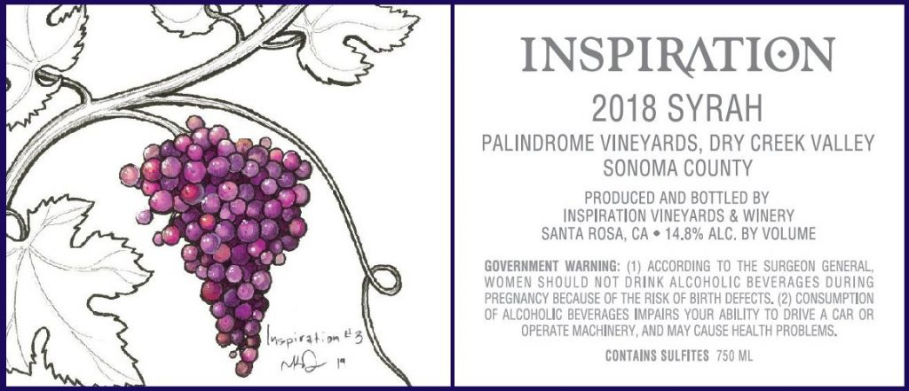 Wine Label - Inspiration Vineyards 2018 Syrah
