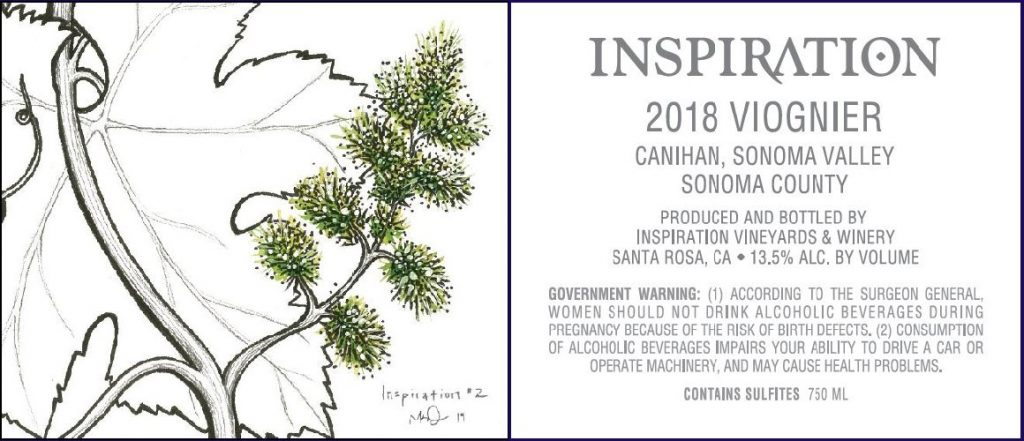 Wine Label - Inspiration Vineyards 2018 Viognier