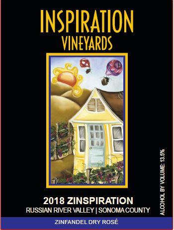Wine Label - Inspiration Vineyards 2018 Zinspiration Dry Rose